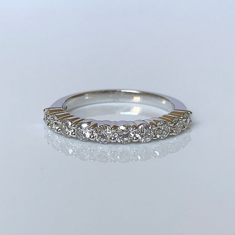 18ct White Gold & Diamond Half Eternity Wedding Ring