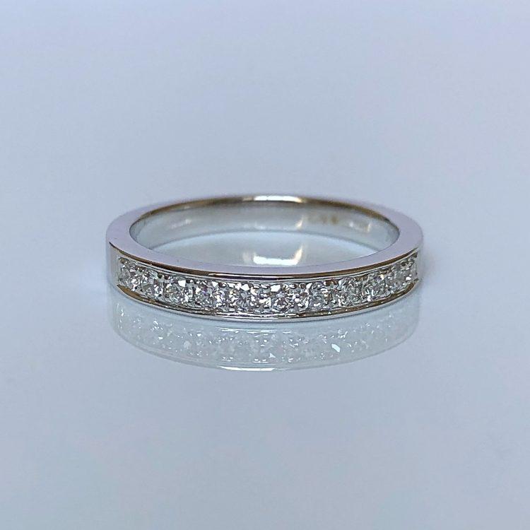 18ct White Gold & Diamond Wedding Ring