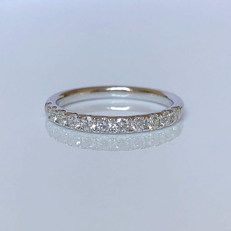18ct White Gold & Diamond Half Eternity Wedding Ring