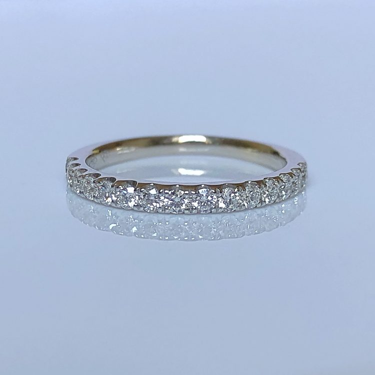 18ct White Gold & Diamond Half Wedding Eternity Ring
