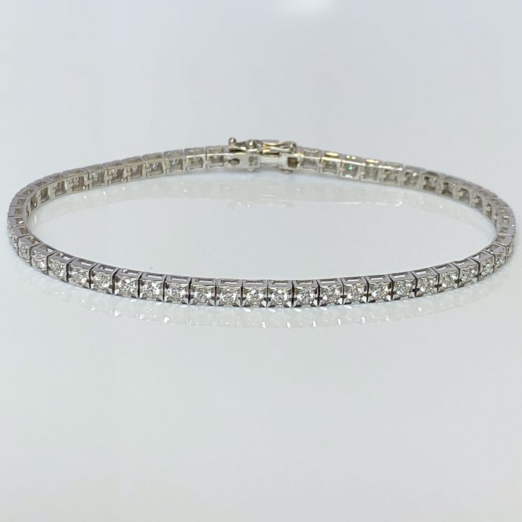 Diamond Set Delicate Tennis Bracelet