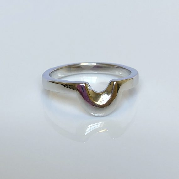 18ct White Gold Unusual Shaped Wedding Band
