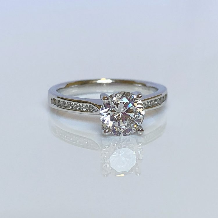 18ct White Gold & 1.14ct Diamond Solitaire Engagement Ring