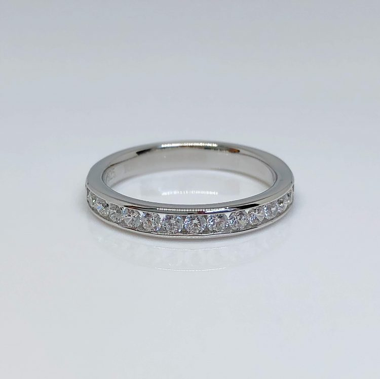 18ct White Gold & Diamond Channel Set Half Eternity Ring - 0.33ct