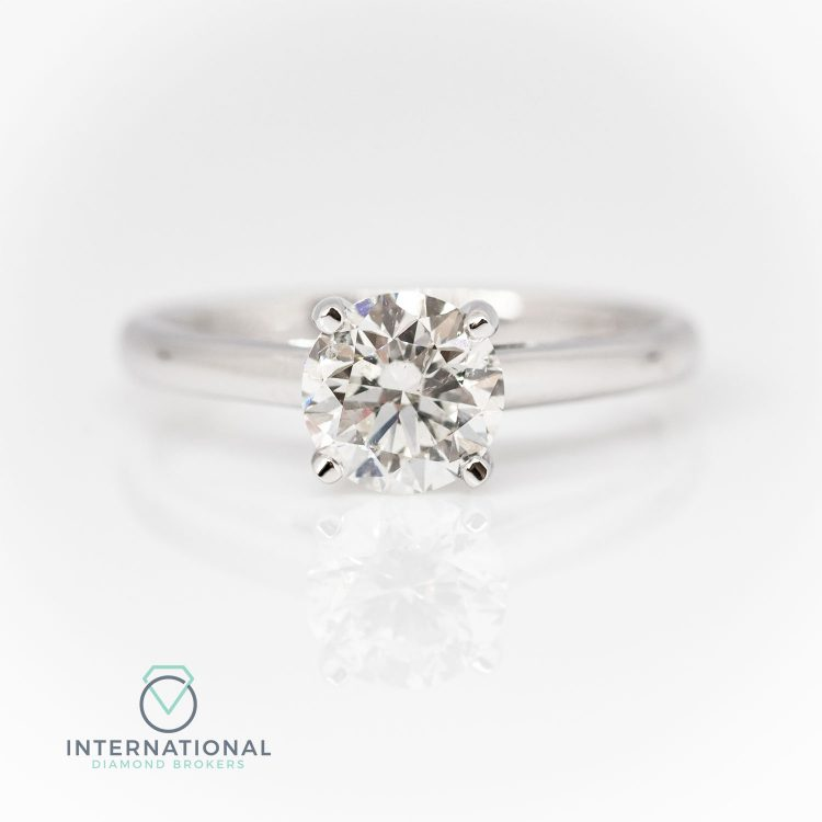 18ct White Gold & 0.70ct Diamond Solitaire Engagement Ring