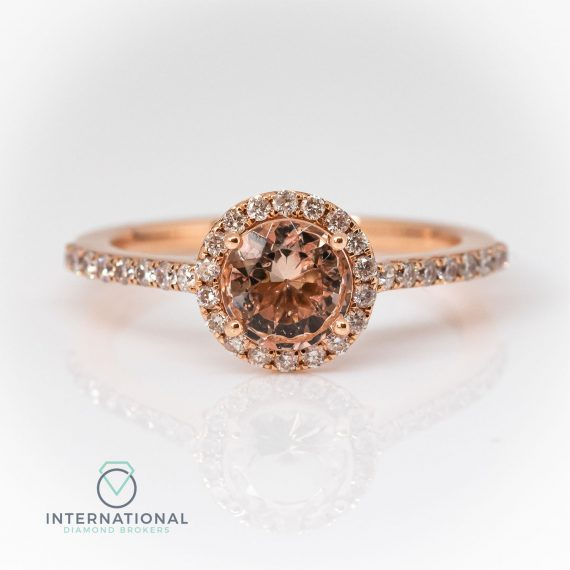Round Morganite & Diamond