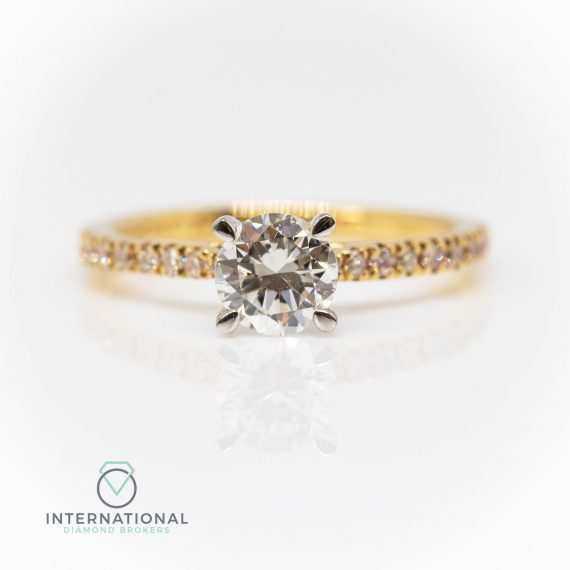 Yello Gold Diamond Solitaire