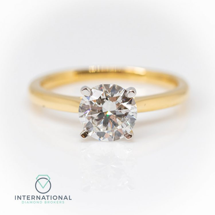 18ct Yellow Gold & 1.50ct Diamond Solitaire Engagement Ring