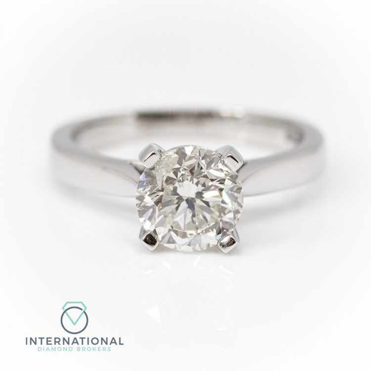 Platinum & 2.00ct Diamond Solitaire Engagement Ring