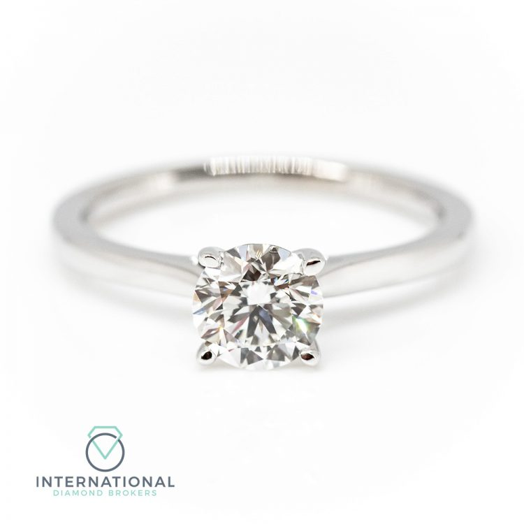 18ct White Gold & 0.50ct Diamond Solitaire Engagement Ring