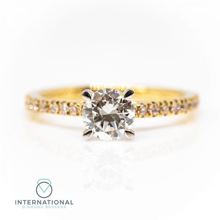 18ct Yellow Gold & 0.90ct Diamond Solitaire Engagement Ring