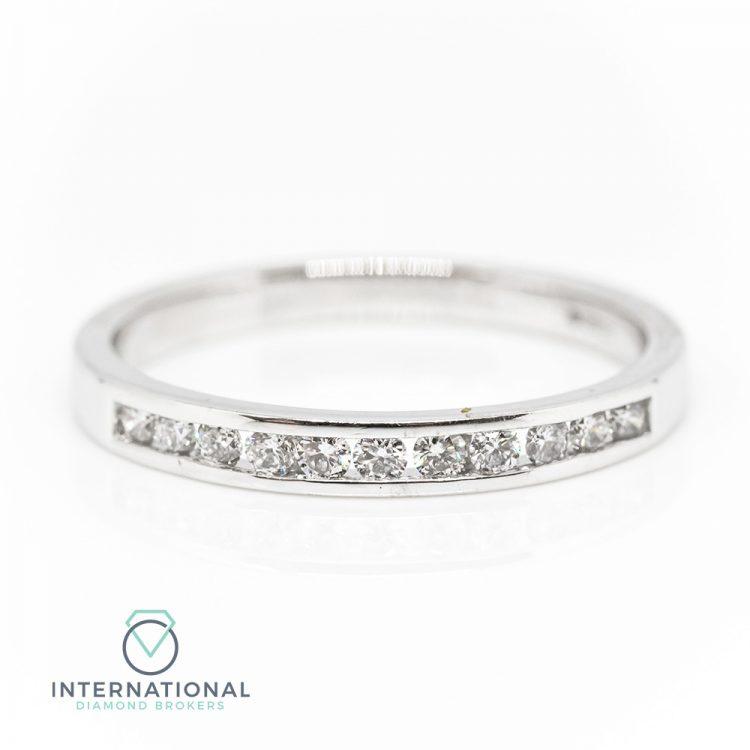 Platinum 0.25ct Diamond Channel Set Half Eternity Ring