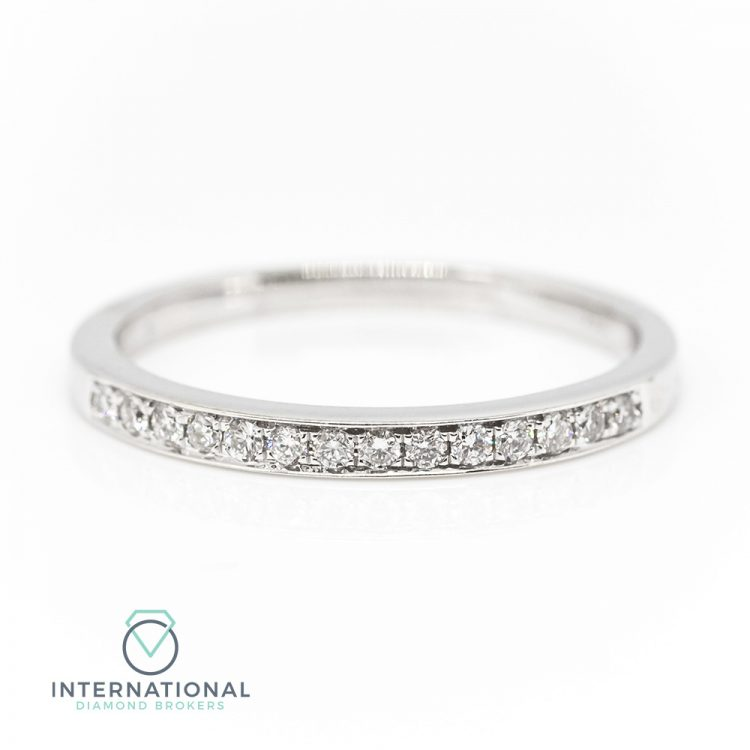 18ct White Gold 0.10ct Diamond Half Eternity Ring