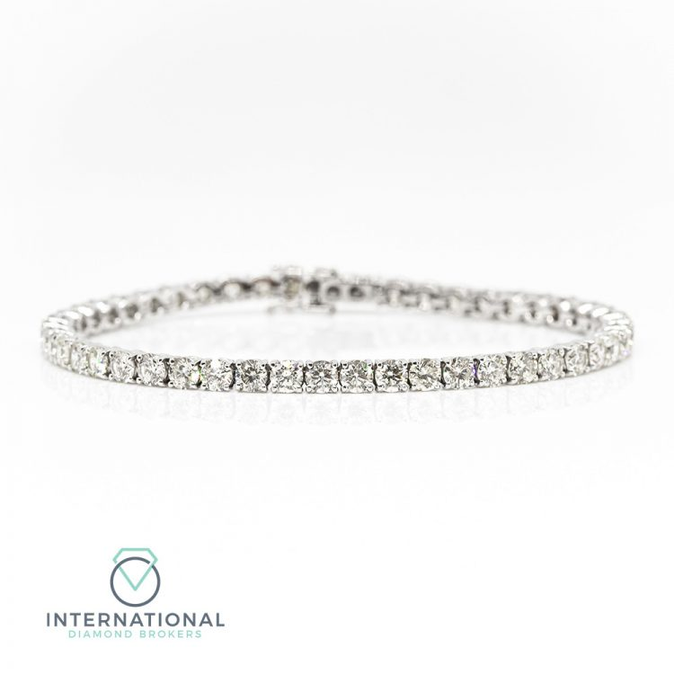 18ct White Gold & 10.00ct Diamond Tennis Bracelet