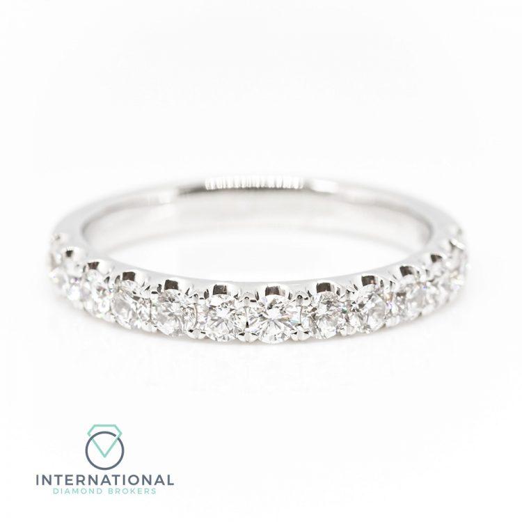18ct White Gold 0.75ct Diamond Half Eternity Ring