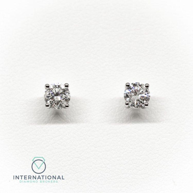 18ct White Gold & 0.60ct Diamond Stud Earrings